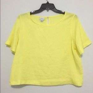 JACLYN SMITH BLOUSE YELLOW SIZE 2X